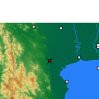 Nearby Forecast Locations - Ratchaburi - Χάρτης