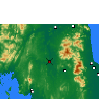 Nearby Forecast Locations - Phrasang - Χάρτης