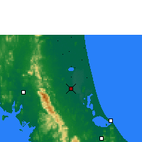 Nearby Forecast Locations - Phatthalung - Χάρτης