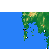 Nearby Forecast Locations - Phuket International Airport - Χάρτης