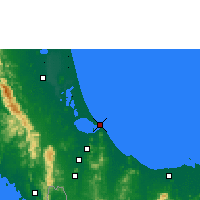 Nearby Forecast Locations - Songkhla - Χάρτης