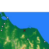Nearby Forecast Locations - Pattani - Χάρτης