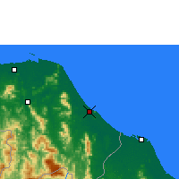 Nearby Forecast Locations - Narathiwat - Χάρτης