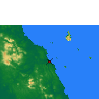 Nearby Forecast Locations - Mersing - Χάρτης