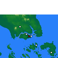 Nearby Forecast Locations - Singapur/Paya - Χάρτης