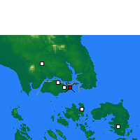 Nearby Forecast Locations - Σιγκαπούρη - Χάρτης