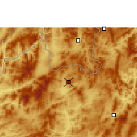 Nearby Forecast Locations - Luang Namtha - Χάρτης