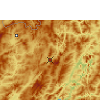 Nearby Forecast Locations - Oudomxay - Χάρτης