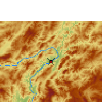 Nearby Forecast Locations - Luang Prabang - Χάρτης