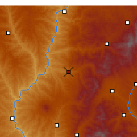 Nearby Forecast Locations - Xing Xian - Χάρτης