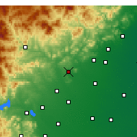 Nearby Forecast Locations - Quyang - Χάρτης