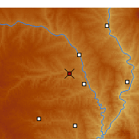 Nearby Forecast Locations - Zizhou - Χάρτης