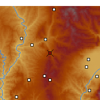Nearby Forecast Locations - Zhongyang - Χάρτης