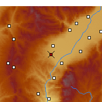 Nearby Forecast Locations - Xiaoyi - Χάρτης