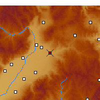 Nearby Forecast Locations - Yuci - Χάρτης