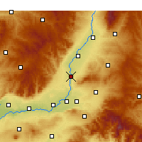 Nearby Forecast Locations - Xiangfen - Χάρτης