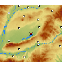 Nearby Forecast Locations - Yuncheng - Χάρτης