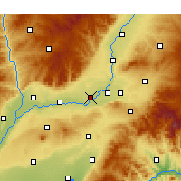Nearby Forecast Locations - Xinjiang - Χάρτης