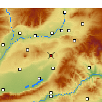 Nearby Forecast Locations - Wenxi - Χάρτης