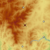 Nearby Forecast Locations - Balihan - Χάρτης