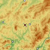 Nearby Forecast Locations - Tonghua - Χάρτης