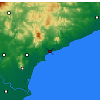 Nearby Forecast Locations - Qinhuangdao - Χάρτης