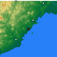 Nearby Forecast Locations - Xingcheng - Χάρτης
