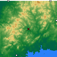Nearby Forecast Locations - Xiuyan - Χάρτης