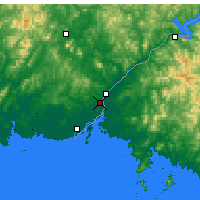 Nearby Forecast Locations - Dandong - Χάρτης