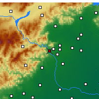 Nearby Forecast Locations - Mentougou - Χάρτης