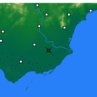 Nearby Forecast Locations - Laoting - Χάρτης