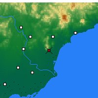 Nearby Forecast Locations - Changli - Χάρτης