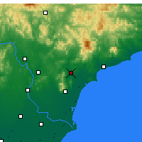 Nearby Forecast Locations - Funing/HEB - Χάρτης