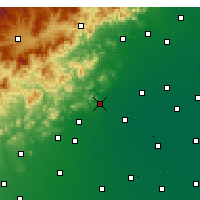 Nearby Forecast Locations - Mancheng - Χάρτης