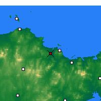 Nearby Forecast Locations - Fushan - Χάρτης