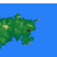 Nearby Forecast Locations - Rongcheng - Χάρτης