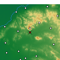 Nearby Forecast Locations - Tai'an - Χάρτης