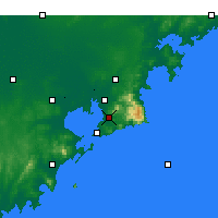 Nearby Forecast Locations - Laoshan - Χάρτης