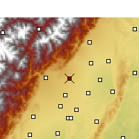 Nearby Forecast Locations - Peng Xian - Χάρτης