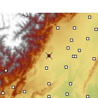 Nearby Forecast Locations - Dayi - Χάρτης