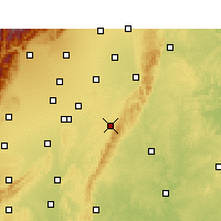 Nearby Forecast Locations - Longquanyi - Χάρτης