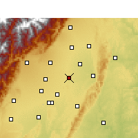 Nearby Forecast Locations - Xindu - Χάρτης