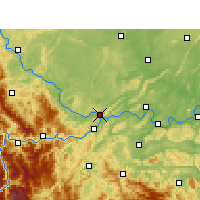 Nearby Forecast Locations - Yibin - Χάρτης