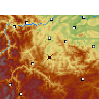 Nearby Forecast Locations - Junlian - Χάρτης