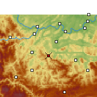 Nearby Forecast Locations - Gong Xian/SCH - Χάρτης