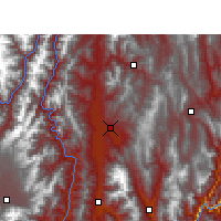 Nearby Forecast Locations - Xichang - Χάρτης