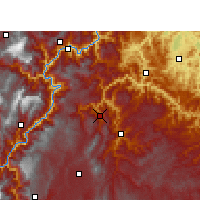 Nearby Forecast Locations - Daguan - Χάρτης