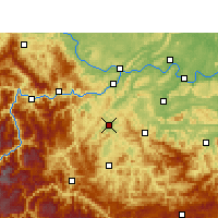 Nearby Forecast Locations - Gao Xian - Χάρτης