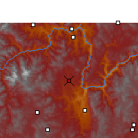 Nearby Forecast Locations - Yongren - Χάρτης