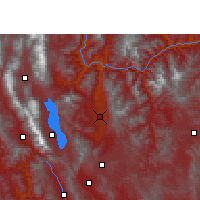 Nearby Forecast Locations - Binchuan - Χάρτης
